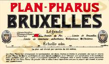Pharus-Plan Brüssel 1910 Legende