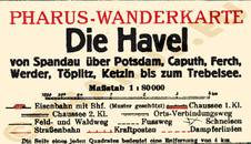 Pharus-Plan Havel 1925 Legende