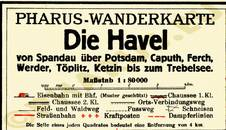 Pharus-Plan Havel 1929 Legende