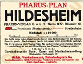 Pharus-Plan Hildesheim 1930 Legende