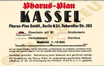 Pharus-Plan Kassel 1935 Legende