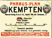Pharus-Plan Kempten 1926 Legende