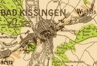 Pharus-Plan Bad Kissingen 1930 Ausschnitt Bad Kissingen