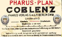 Pharus-Plan Koblenz 1917 Legende