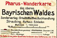 Pharus-Plan Bayrischer Wald 1925 Legende
