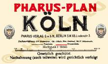 Pharus-Plan Köln 1924 Legende