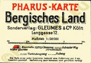 Pharus-Plan Bergisches Land 1925 Legende