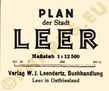 Pharus-Plan Leer 1925 Legende