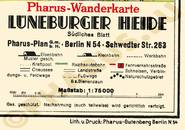 Pharus-Plan Lüneburger Heide 1934 Legende