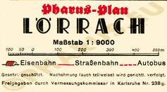 Pharus-Plan Lörrach 1938 Legende