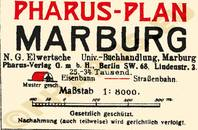 Pharus-Plan Marburg 1924 Legende