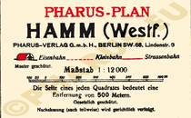 Pharus-Plan Hamm 1925 Legende