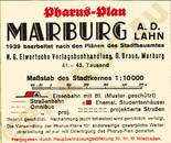 Pharus-Plan Marburg 1939 Legende