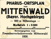 Pharus-Plan Mittenwald 1926