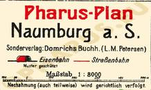 Pharus-Plan Naumburg 1921 Legende