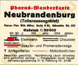 Pharus-Plan Neubrandenburg 1938 Legende