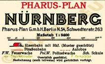 Pharus-Plan Nürnberg 1933 Legende