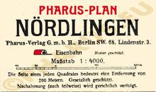 Pharus-Plan Nördlingen 1918 Legende