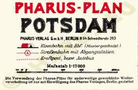 Pharus-Plan Potsdam 1932 Legende
