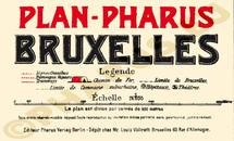 Pharus-Plan Brüssel 1907 Legende