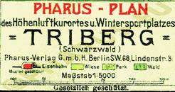 Pharus-Plan Triberg 1920 Legende