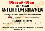 Pharus-Plan Wilhelmshaven 1941 Legende