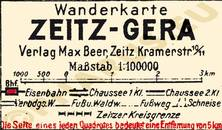 Pharus-Plan Zeitz-Gera 1925 Legende
