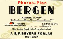 Pharus-Plan Bergen (Norwegen) 1920 Legende