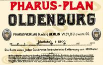 Pharus-Plan Oldenburg 1930 Legende