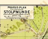 Pharus-Plan Stolpmünde 1914 Legende