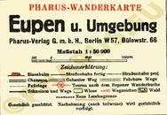 Pharus-Plan Eupen 1930 Legende