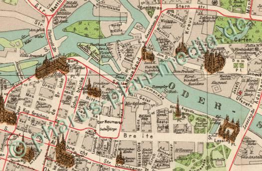 Breslau Karte 1930.Pharus Pharus Historischer Stadtplan Breslau 1908