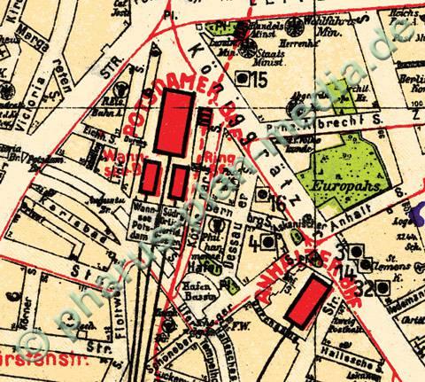 Stadtplan Berlin 1930