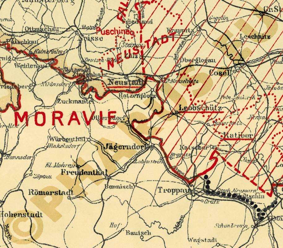 Pharus Pharus Historischer Stadtplan Deutschland 1919 Versailler