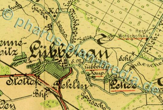 Karte Spreewald Lubbenau.Pharus Shop Bild 1256b Pharus Historischer Stadtplan