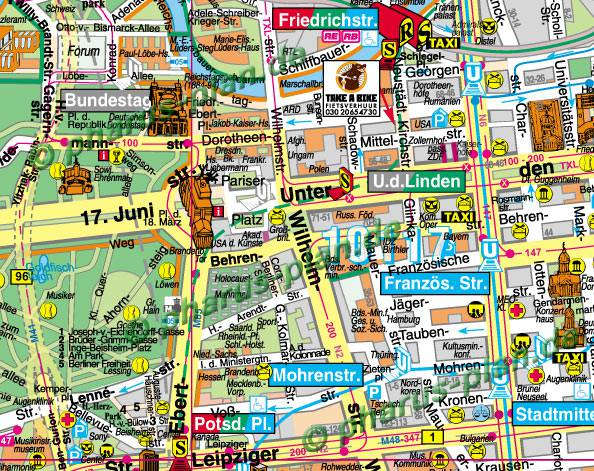 Berlin Sehenswurdigkeiten Karte Drucken Goudenelftal