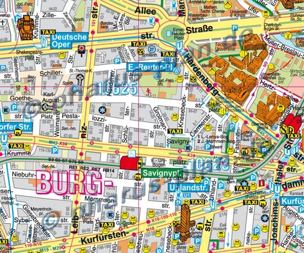 pharus shop bild 1505d pharus stadtplan berlin city. Black Bedroom Furniture Sets. Home Design Ideas