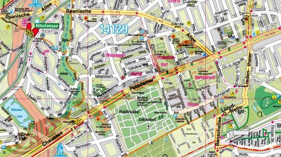 Pharus – Pharus Stadtplan Berlin - Steglitz-Zehlendorf
