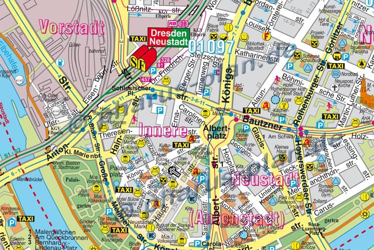sehenswürdigkeiten dresden karte Dresden Sehenswürdigkeiten Karte | Karte