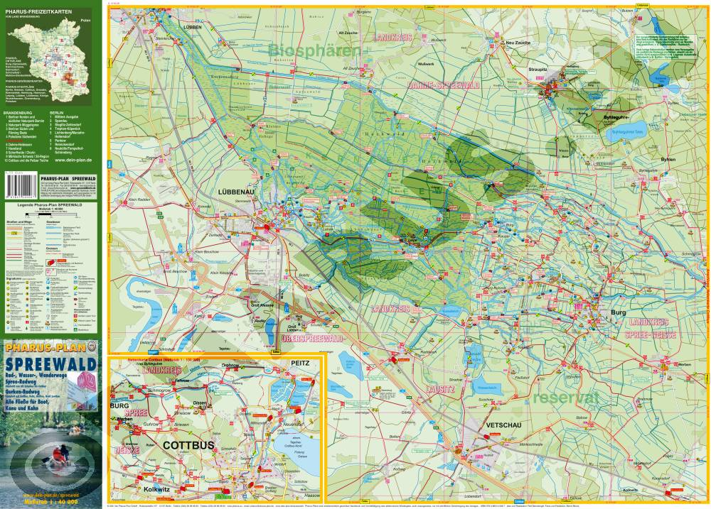 Karte Spreewald Lubbenau.Spreewald