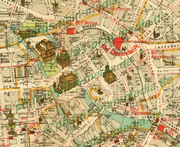 Breslau Karte 1930.Pharus Pharus Historischer Stadtplan Berlin 1930 Mittlere