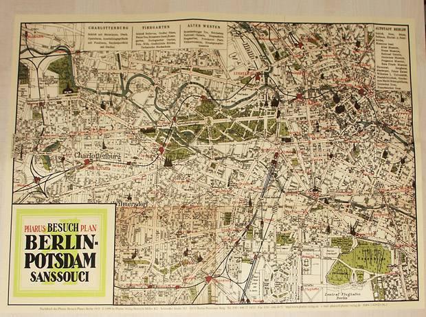 Historische Karte Potsdam.Pharus Pharus Historischer Stadtplan Berlin Und Potsdam
