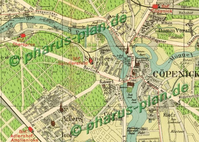 Karte Berlin Lichtenrade.Pharus Pharus Historischer Stadtplan Buckow Copenick Lichtenrade