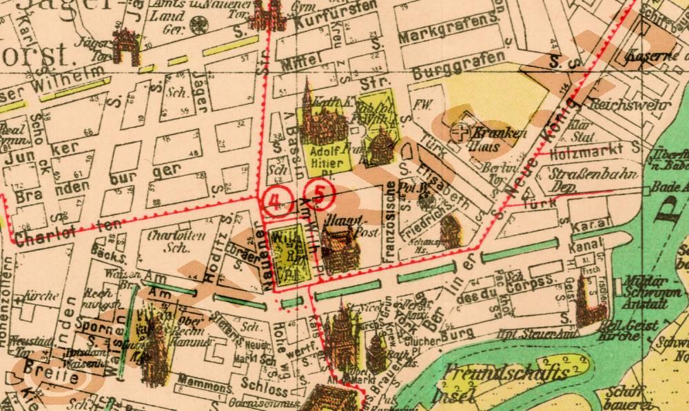 Historische Karte Potsdam.Pharus Pharus Historischer Stadtplan Berlin Und Potsdam 1935