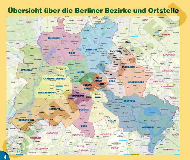 Potsdam Karte Stadtteile.Atlas Berlin Ringbindung Mit Wanderwegen Durch Berlin