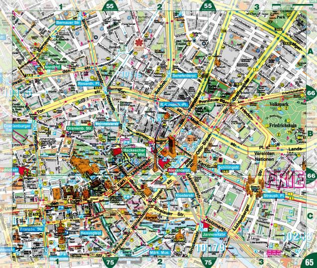 Aktueller Pharus-Stadtplan BERLIN-Atlas (Ringbindg), m ...