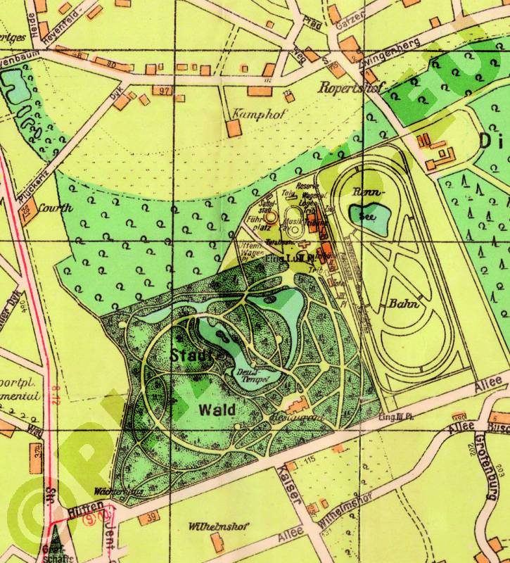 Krefeld Karte.Pharus Pharus Historischer Stadtplan Krefeld 1930