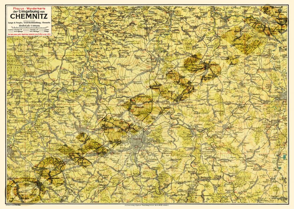 Karte Chemnitz Und Umgebung.Pharus Pharus Historischer Stadtplan Chemnitz 1925
