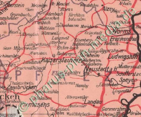 Pharus Pharus Historischer Stadtplan Deutschlandkarte 1920