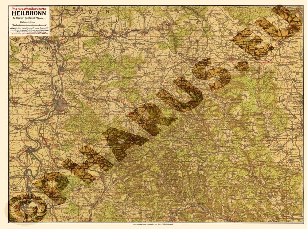 Heilbronn Karte Stadtplan.Pharus Pharus Historischer Stadtplan Heilbronn 1920